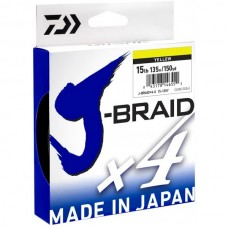Шнур плетёный Daiwa J-Braid x4 Yellow 135м