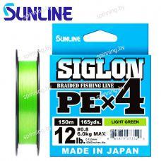 Шнур плетеный Sunlline SIGLON PE X4 (light green) 150м
