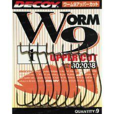 Крючки офсетные Decoy Worm 9 Upper Cut Offset